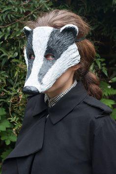 The Badger Mask Animal Mask Festival Mask by NibAndChisel on Etsy