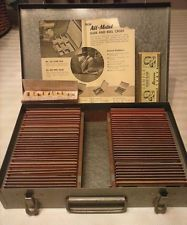 72 Kodachrome Stereo 3D Slides in Metal Case 1950's