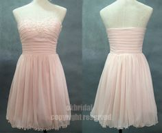 pink short prom dress pink prom dress pink bridesmaid by okbridal, $112.00