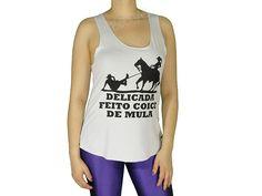 Regata Cavada Longa Delicada Feito Coice de Mula Branca Acesse: http://www.spbolsas.com.br/atacado/ #Regatas #Femininas #Atacado