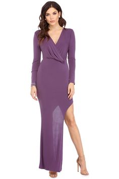 Claudia Purple Drape Dress
