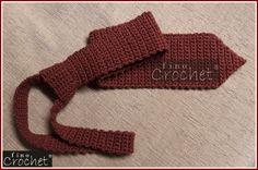 Fino Crochet: GRAVATA EM CROCHÊ