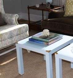 Little Green Notebook: DIY Campaign Style Side Tables