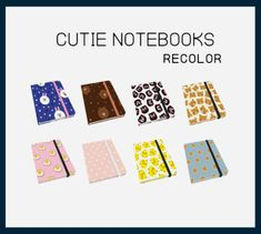 Cutie Notebooks Recolors for The Sims 4