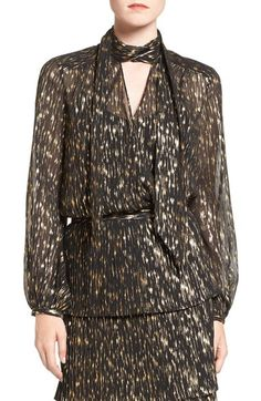 Olivia Palermo + Chelsea28 Tie Neck Blouse available at #Nordstrom