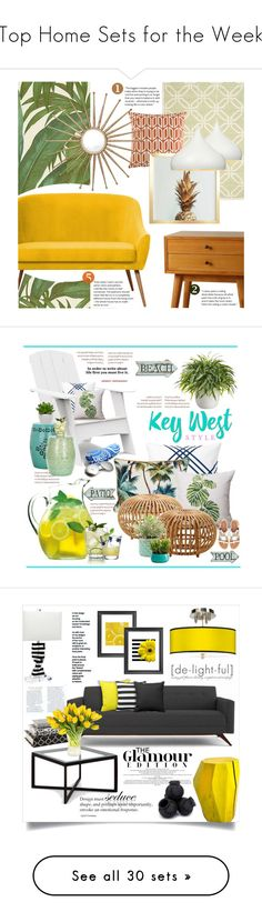 """""""Top Home Sets for the Week"""" by polyvore ❤ liked on Polyvore featuring interior, interiors, interior design, home, home decor, interior decorating, Versace, Safavieh, Porthos Home and DENY Designs"""