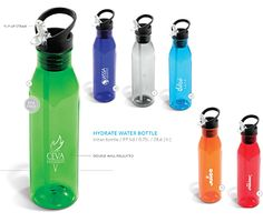 This Hydrate Water Bottle is double-wall insulated. #brandability #corporategifts #waterbottles
