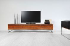 Maesta' TV #TVstand #design by Lestrocasa Firenze #interiordesign #home #steel #modern #wood #eucalyptus #Lestrocasa