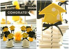 Cute 'Cap' decorations and favors for a graduation party!