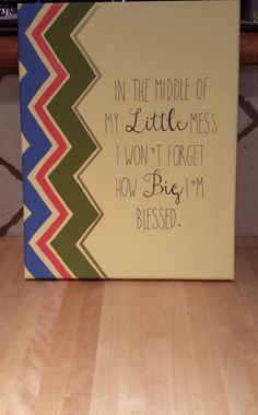 Big Little Sorority Quote Canvas by NolaLolaDesigns on Etsy, $23.00
