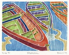 White line woodcut by Ingrid Davis