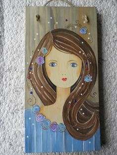 Motifs Applique Laine, Paintings I Love, Wood Art, Amazing Art, Whimsical, Country, Sketches, Cutting Boards, Art Journals