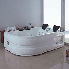 G-Quilotoa Baignoire Balnéo asymétrique, whirlpool 46 jets. Quelle sensation de légèreté après un long bain dans votre baignoire équipée de l'hydrothérapie pour soulager votre corps quotidiennement.