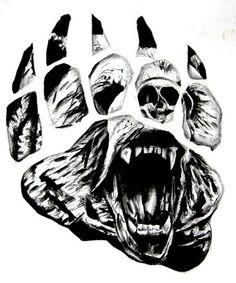 crawling-bear-face-in-paw-print-tattoo-design.jpg 600×720 pixeles