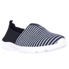 Easy Spirit Quirky Casual Laceless Slip On Sneakers - Navy Multi