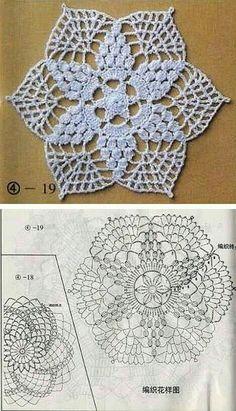 Transcendent Crochet a Solid Granny Square Ideas. Inconceivable Crochet a Solid Granny Square Ideas. Art Au Crochet, Crochet Blocks, Crochet Doily Patterns, Crochet Diagram, Crochet Chart, Crochet Squares, Thread Crochet, Crochet Granny, Crochet Designs