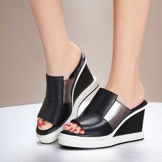 Womens High Wedge Heels Platform Sandals Slipper Summer Open Toe Shoes Us Size