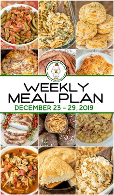 Weekly Meal Plan - what to make for dinner every night this week. A quick, easy, and delicious recipe for every single night of the week. Main dishes, sides and dessert. Easy Meal Plans, Free Meal Plans, Weekly Meal Plans, Weekly Planner, Easy Healthy Recipes, Easy Dinner Recipes, Delicious Recipes, Yummy Food, Plain Chicken Recipe