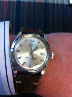 Rolex Datejust with wide hands and indices