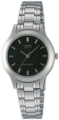 LTP1128 3-Hand Analog Ladies Fashion Black Face Silver Metal Band Watch by Casio. Save 38 Off!. $19.98. Casual watch, Japanese quartz movement, Polished silver-tone sword hands and sweep seconds, Applied polished silver-tone baton markers, White indices form surrounding minute track, Black dial, Slim brushed silver-tone stainless steel bracelet with polished detailing, adjustable links and fold-over-clasp, Polished silver-tone aluminum bezel, Brushed/polished silver-tone alu...