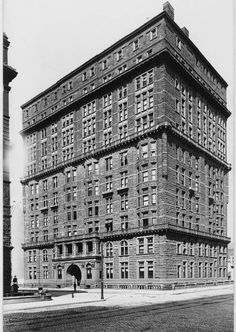 """The Osborne Apartments built in 1883-85 and designed by the talented and prolific architect James E. Ware, was one of the earliest luxury apartment buildings in New York City. The Osborne Apartments, NW corner of 57th Street and Seventh Ave. ca. 1905 - View from the southeast corner (Geo. P. Hall & Son Collection - NYHS). ROBERT OSBORNE, the host of Turner Classic Movies who died earlier today, maintained his New York residence here. """"I wanted something that looked like a gentlemen's club,""""…"""