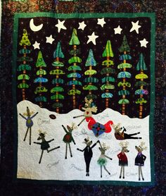 Party at the Pole quilt by Kim Rado at Starry Night Hollow.  For the pattern see http://www.starrynighthollow.com/shop/Patterns/p/Party-at-the-Pole-Pattern-x4999320.htm