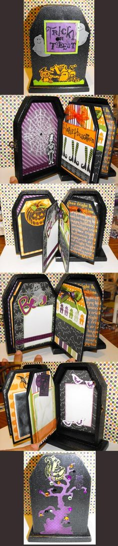 Tombstone Box Halloween Album, just love this!