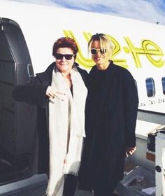 Kate Mulgrew and Taylor Schilling - Madrid to Milan - 2015
