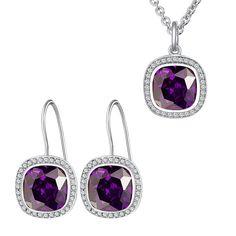 Set Nahla Jewels Damă de Violet (cercei, colier, pandantiv)