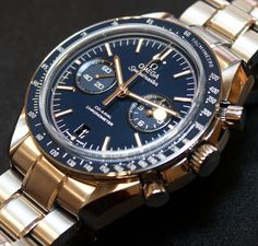 Omega Speedmaster Co-Axial Chronograph Titanium Blue #watch #omega