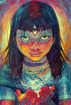 Mistyrius Art Print by Annelie Solis