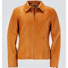 Brown Cognac Women Short Leather Jacket