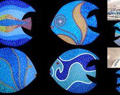 Peixes Decorativos Fish, Resin, Pisces, Decorated Flower Pots, Mosaics, Art, Animales