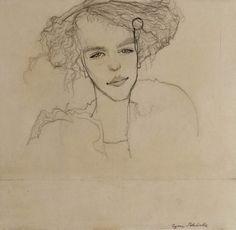 Mädchenbildnis - Egon Schiele by dawn