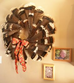 LOVE this wreath!! Great way to compromise on bagged game display compared to a big deer head.