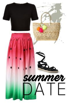 """""""Watermelon skirt"""" by tarf101 on Polyvore featuring Ted Baker, Canvas by Lands' End and Lilly Pulitzer"""