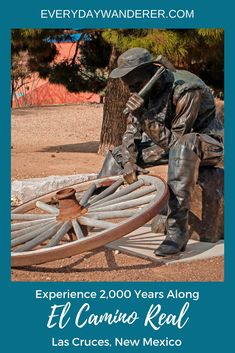 Experience 2,000 years along the Royal Highway (El Camino Real) in about ten minutes via an art exhibit outside the Branigan Library in Las Cruces, NM | Public art | Statues | Visit New Mexico