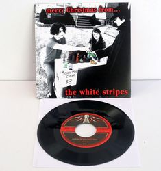 "WHITE STRIPES merry christmas from... candy cane children 7"" Vinyl Record , jack #GarageRockPunkNewWave"