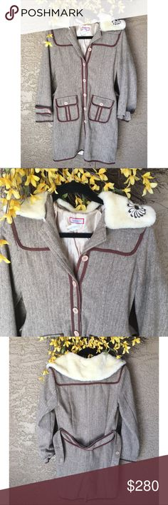 Max Mara pea coat Luxurious coat 100% cotton with faux fur collar Max&Co. by MaxMara. Great condition, shows mild signs of wear, on the inside of the coat the lining stitching is coming a little off but it is not visible and doesn't create any problem with the coat. ❤️Bundle to save, offers considered, please no low balls ❤️ Max Mara Jackets & Coats Pea Coats