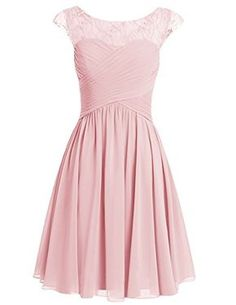 Homecoming Dresses 2018 Sexy A-line Scoop Chiffon Cap Sleeves Pink Short Prom/Homecoming Dress With Beading Evening Dresses With Sleeves, A Line Prom Dresses, Grad Dresses, Dance Dresses, Homecoming Dresses, Short Dresses, Dress Prom, Pink Dress, Homecoming Shoes
