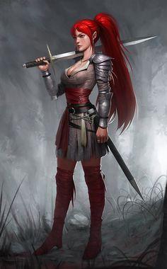 red warrior, SYAR . on ArtStation at https://www.artstation.com/artwork/red-warrior-7df463bd-45c6-49f9-bca0-3242218e63fa