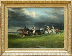 Gericault, Théodore - Course de chevaux - Le derby d'Epsom - Louvre, Paris
