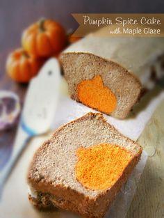 Pumpkin Spice Cake with Maple Glaze at sewlicioushomedecor.com