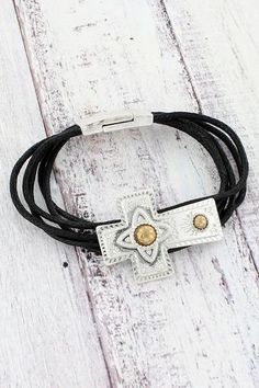 Add an inspirational touch with this stylish bracelet. Cowgirl Jewelry, Religious Jewelry, New Fashion, Fashion Jewelry, Touch, Inspirational, Stylish, Bracelets, New Trends