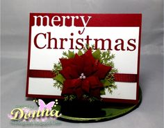 Poinsettia Christmas Card by didlet - Cards and Paper Crafts at Splitcoaststampers