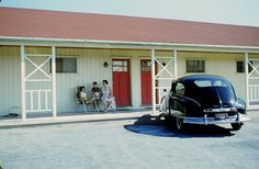 1955 Family Road Trips, Five Star Hotel, Roadside Attractions, Hotel Deals, Back In The Day, Motel, Best Hotels, Antique Cars