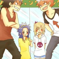Is it just me or does Natsu like Aki from Baka and Test in this picture?