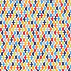 Tissu Rhombus Blue x 10cm