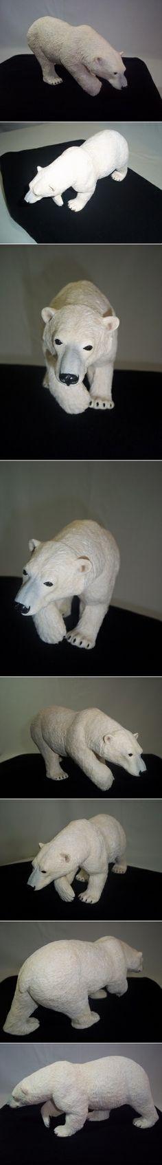 Polar Bear Statue Figurine  Perfect for this Holiday Season