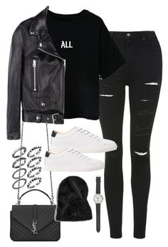 """""""Sin título #5218"""" by marym96 ❤ liked on Polyvore featuring Topshop, Acne Studios, MANGO, Yves Saint Laurent and J.Crew"""